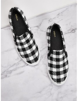 Slip On Gingham Sneakers