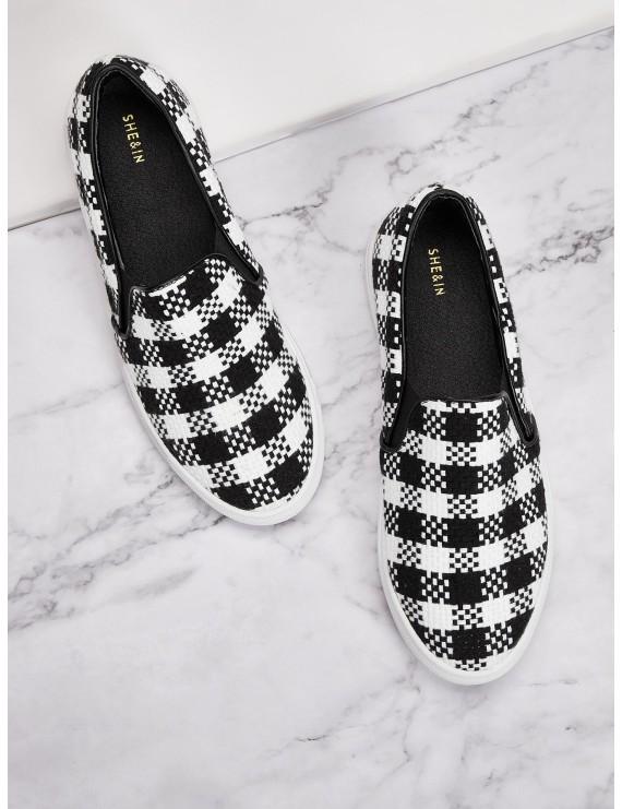 Slip On Gingham Sneakers