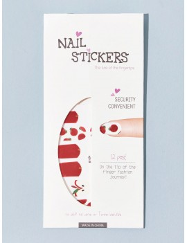 3D Christmas Apple Graphic Nail Stickers