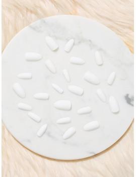 Almond Fake Nail 24pcs & Nail File & Tape