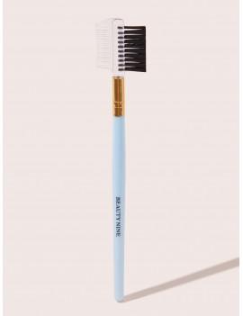 1pc Slogan Pattern Duo Brow Brush