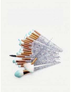 Clear Handle Makeup Brush 20pcs