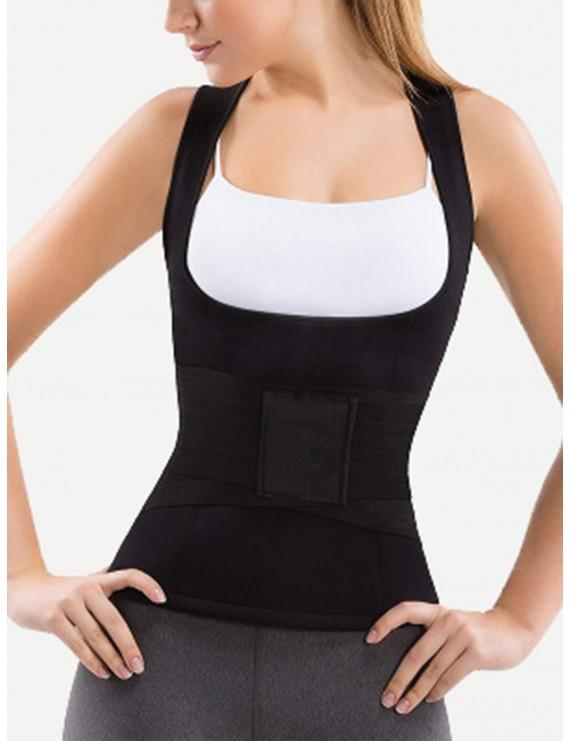 Waist Trainer Cincher Girdle With Vest Set 2pcs