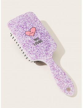 Letter & Heart Pattern Hair Comb