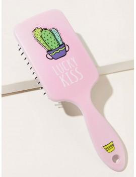Cactus Pattern Massage Hair Comb
