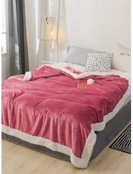 Contrast Trim Soft Blanket
