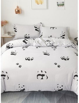 Cute Panda Print Sheet Set