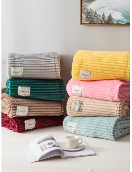 1pc Solid Soft Blanket