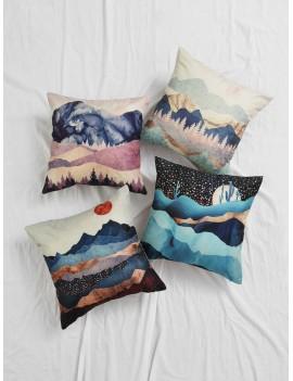 1pc Landscape Print Cushion Cover