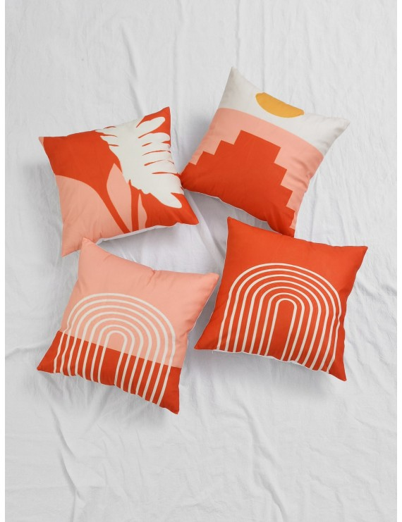 1pc Geometric Pattern Cushion Cover