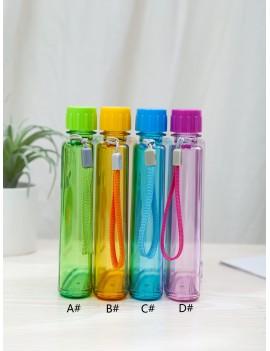 1pc Fruit Print Flat Plastic Water Bottle