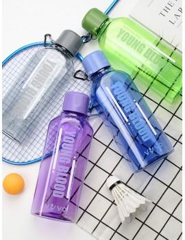 1pc Letter Graphic Plastic Water Bottle