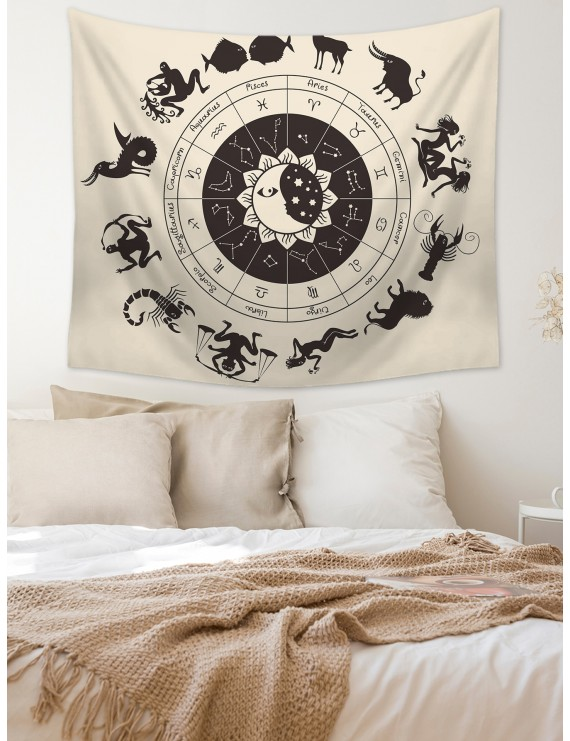 12 Constellations Print Tapestry