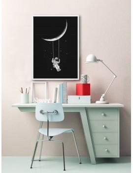 Astronaut Swing Wall Art Print