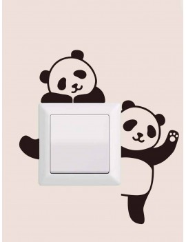 Cartoon Panda Print Switch Sticker