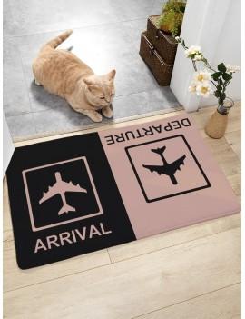 Arrival & Departure Print Floor Mat
