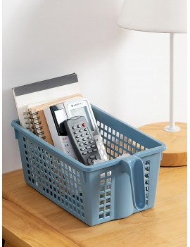 1pc Desktop Hollow Plastic Storage Basket