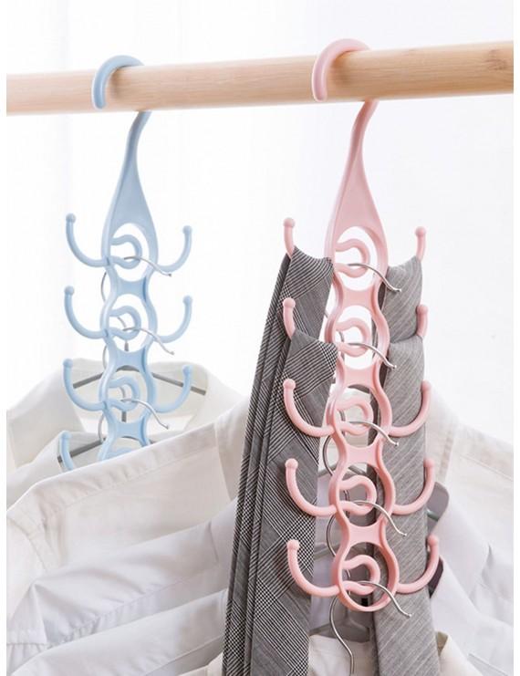 1pc Rotate 10 Tweezer Hooks Tie Storage Hanger