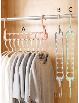 1pc Rotating 9 Hole Clothing Hanger