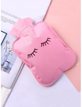 Eyelash Print Hot Water Bag