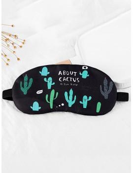 Cactus Print Eye Mask