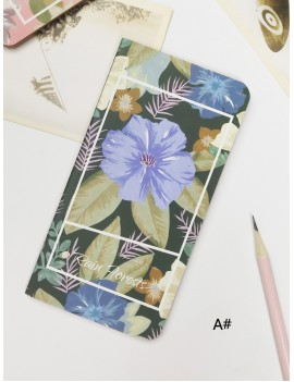 1pack Flower Print Cover Notebook