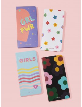 Cartoon Print Hard Cover Notebook 1pack