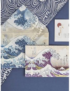 2pcs Random National Pattern Envelope With Writing Paper