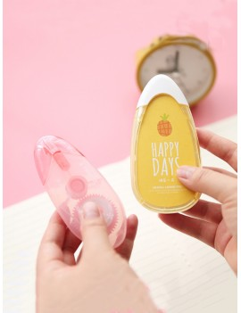 1pc Cute Fruit Print Correction Tape