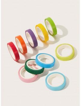 10rolls Solid Color Masking Tape Set
