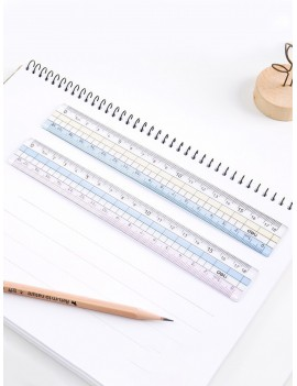1pc Random Color Clear Ruler