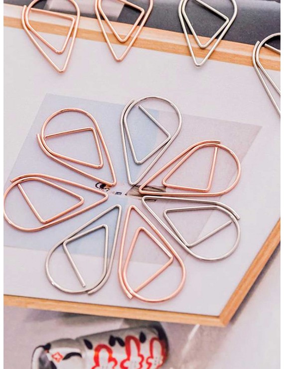 10pcs Water Drop Shaped Paper Clip