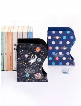 1pc Cartoon Planet Print Bookend
