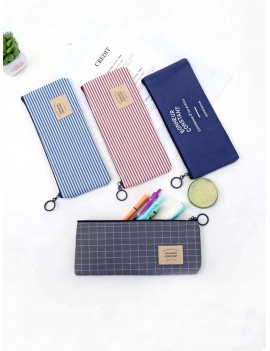 1pc Stripe Pattern Pencil Bag