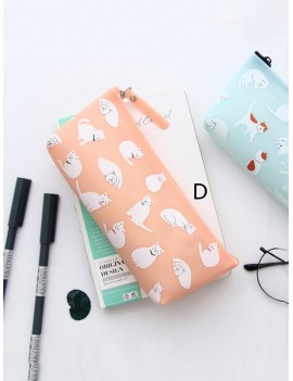 Cat Print Pencil Bag 1pc