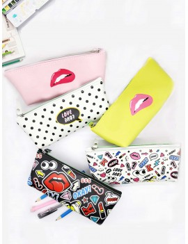 Cartoon Print Pencil Bag 1pc