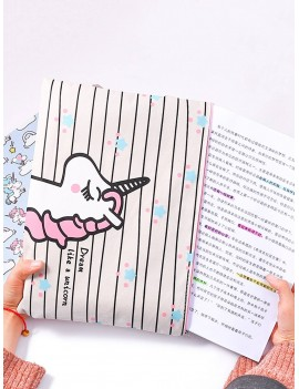 1pc Cartoon Unicorn Print File Bag