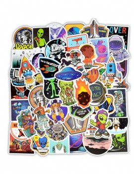 Astronaut & Alien Print Sticker 50pcs
