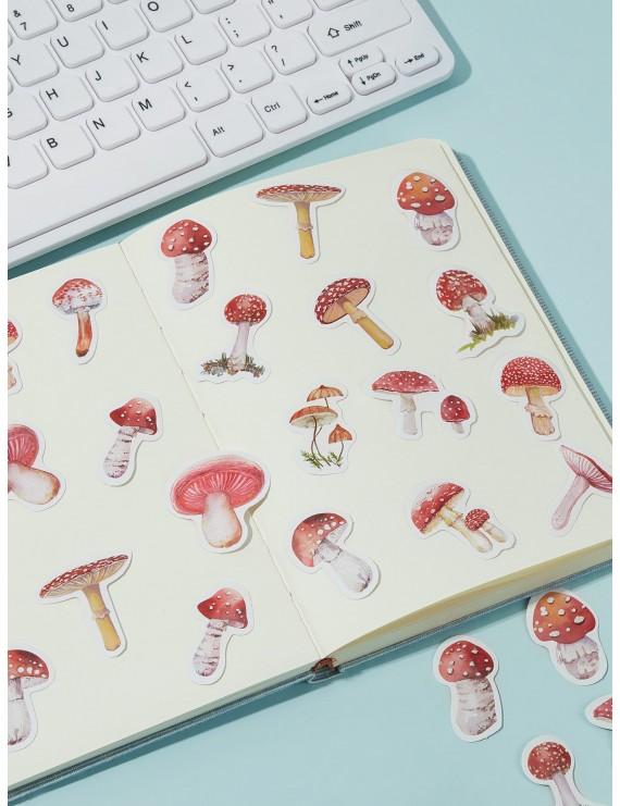 45pcs Cute Mushroom Print Sticker