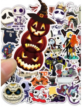 50pcs Halloween Horror Ghost Print Sticker