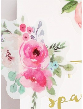 50pcs Flower Print Sticker