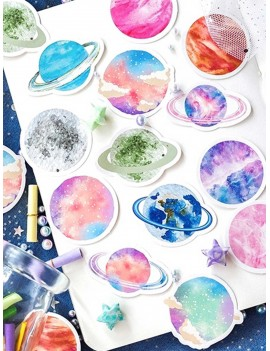 45pcs Colorful Planet Print Sticker