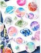 45pcs Colorful Planet Print Sticker