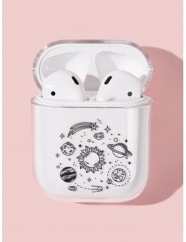Clear Planet Space Print Airpods Box Protector