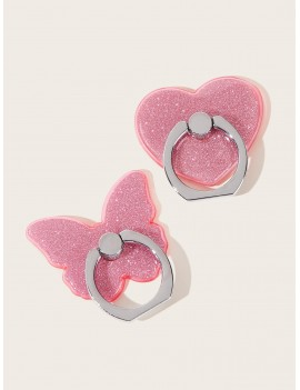 Butterfly & Heart Shaped iPhone Holder 2pcs